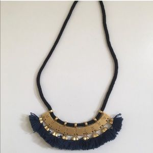 Madewell Supernova Tassel Necklace Navy